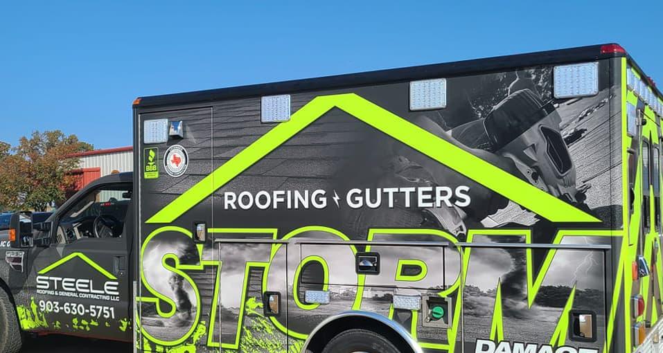 Steele roofing full truck